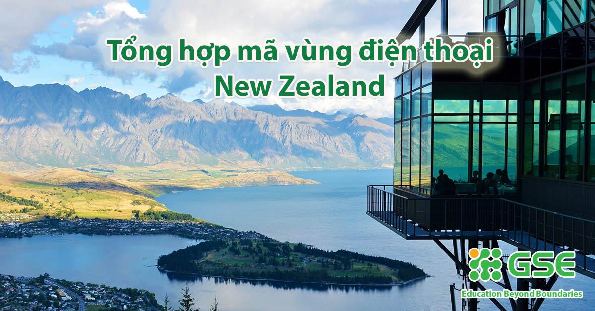 Tổng hợp mã vùng điện thoại của New Zealand